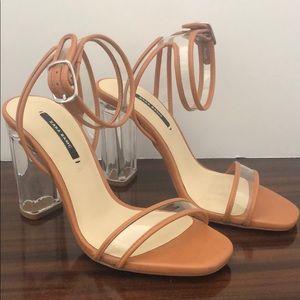 Zara Tan Heels Size 35